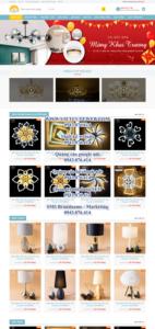 Mẫu website đèn Sunshine – TU