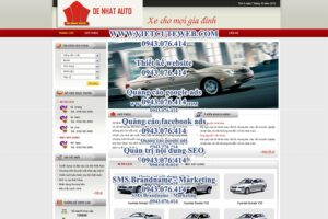Mẫu website Đệ Nhất Auto -TYC