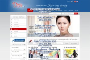 Mẫu website Diva -TYC
