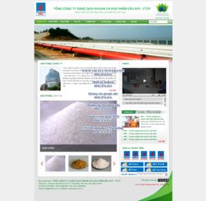 Mẫu website Dung dịch và hóa phẩm DMC-TYC