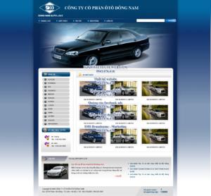 Mẫu website Ô tô Đông Nam -TYC
