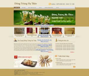 Mẫu website Đông trùng hạ thảo-TYC