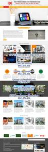 Mẫu website Công ty phát triển công nghệ Đức Giang – TU