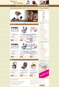 Mẫu website Dụng cụ làm bánh demo 1-TYC