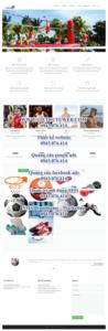 Mẫu website Dụng cụ thể thao-TU