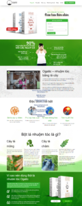 Mẫu website Nhuộm tóc Ogatic – TU