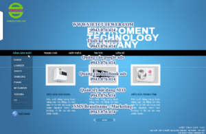 Mẫu website Entech-TYC