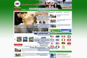 Mẫu website Du học ETC-TYC