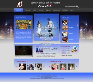 Mẫu website Dịch vụ Eva club-TYC