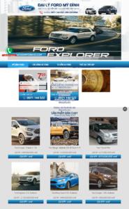 Mẫu website Đại lý Ford Mỹ Đình – TU