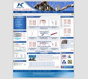 Mẫu website Giàn giáo HC -TYC