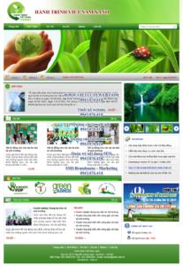 Mẫu website Hành trình Việt Nam xanh demo 1-TYC