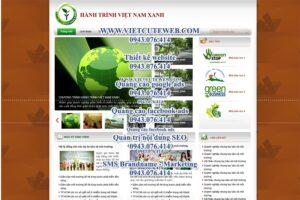 Mẫu website Hành trình Việt Nam xanh demo 2-TYC