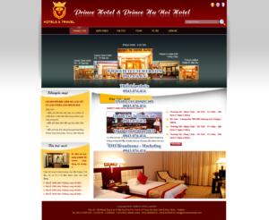 Mẫu website Hotel and travel-TYC