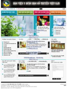 Mẫu website Học viện y dược học cổ truyền Việt Nam-TYC