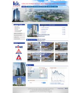 Mẫu website Công ty IDC -TYC