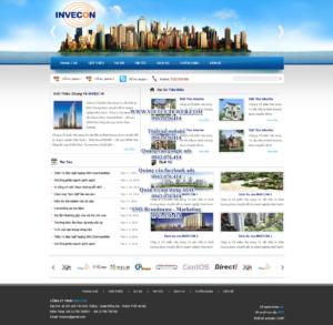 Mẫu website Invecon -TYC