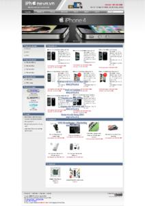 Mẫu website Iphonevn -TYC