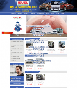 Mẫu website Isuzu Long Biên – TU