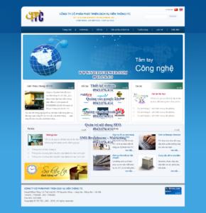 Mẫu website Công ty viễn thông ITC -TYC