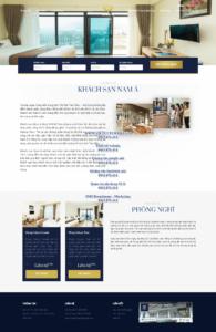 Mẫu website khách sạn Nam Á – TU