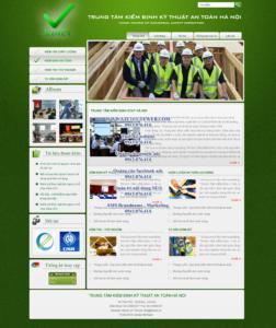 Mẫu website Công ty Kiểm định Hà Nội-TYC