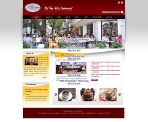 Mẫu website KiTa Restaurant-TYC