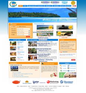 Mẫu website KTV Tourist-TYC