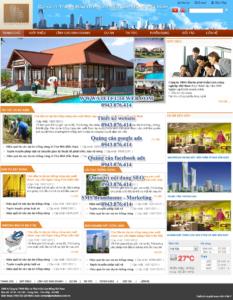 Mẫu website Lâm Nông Việt Nam-TYC