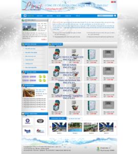 Mẫu website LinoTech-TYC