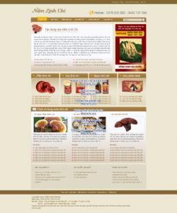 Mẫu website Nấm Linh Chi-TYC