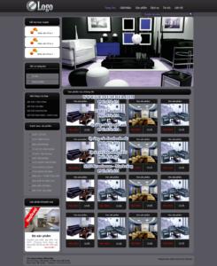 Mẫu website Nội thất KCA -TYC