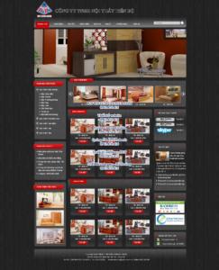 Mẫu website Nội thất Tiến Bộ demo 1 -TYC