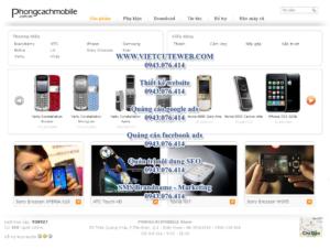 Mẫu website Phongcachmobile-TYC