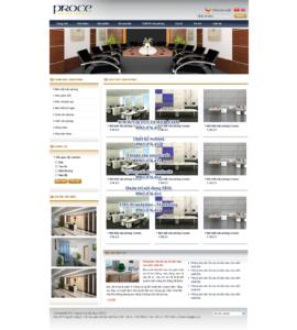 Mẫu website Proce -TYC