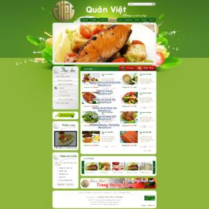 Mẫu website Quán Việt-TYC