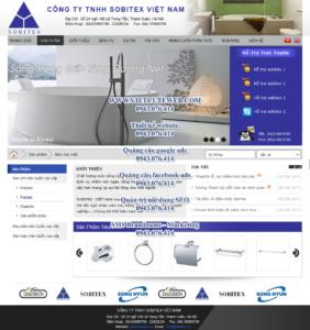 Mẫu website Sobitex demo 1 -TYC