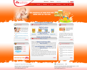 Mẫu website Sữa Morinaga-TYC