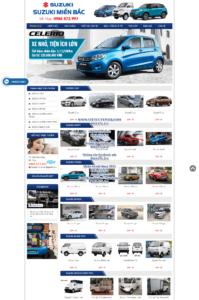 Mẫu website Suzuki miền bắc- TU