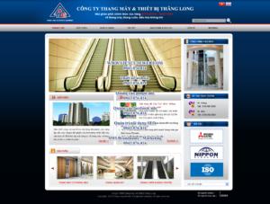 Mẫu website Thang máy Thăng Long -TYC