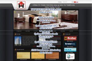 Mẫu website Sàn gỗ Thiên Hà -TYC