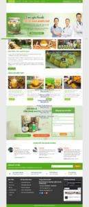 Mẫu website Tinh bột nghệ – TU
