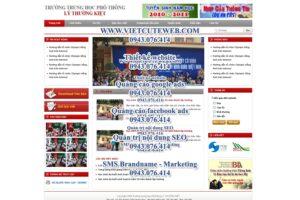 Mẫu website Trung học Lý Thường Kiệt-TYC
