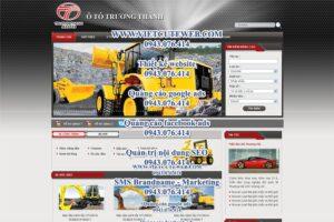 Mẫu website Ô tô Trường Thành -TYC