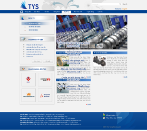 Mẫu website Công ty TYS-TYC