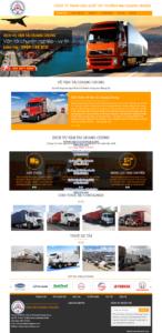 Mẫu website Vận tải Quang Trung- TU