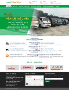 Mẫu website Vận tải The Chien- TU