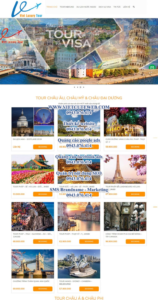 Mẫu website Viet Luxury Tour- TU