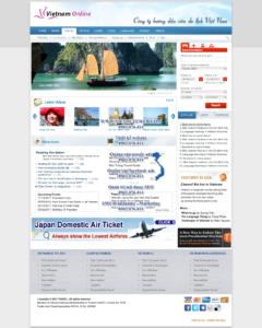 Mẫu website Vietnam Online-TYC