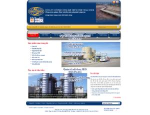 Mẫu website Vinaconex-TYC